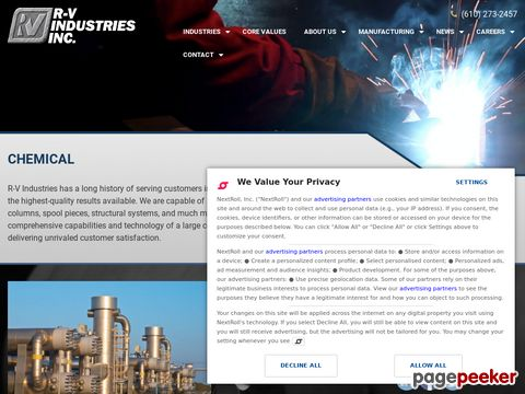 Chemical Process Equipment: R-V Industries, Inc.