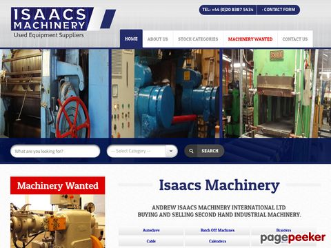 Rubber machinery, tyre machinery, extrustion machinery - Andrew Isaacs Machinery International UK