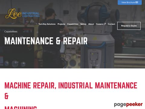 Industrial Maintenance and Repair | Lee Industrial Contracting